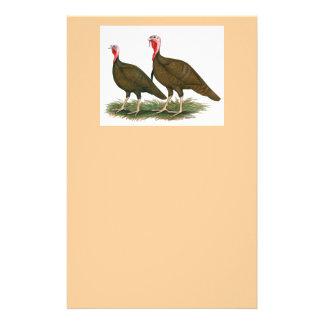 Turkeys:  Chocolate Stationery