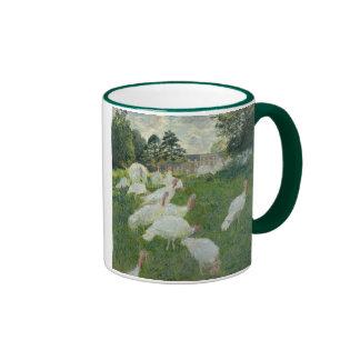 Turkeys - Claude Monet Ringer Coffee Mug
