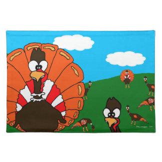 Turkeys Cloth Placemat