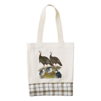 Turkeys Eastern Wild Family Zazzle HEART Tote Bag
