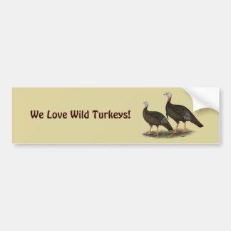 Turkeys Eastern Wild Pair Bumper Sticker