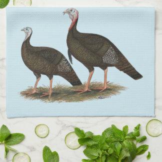 Turkeys Eastern Wild Pair Kitchen Towel