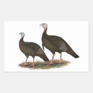Turkeys Eastern Wild Pair Rectangular Sticker