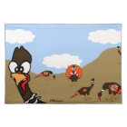 Turkeys in Autumn Cloth Placemat