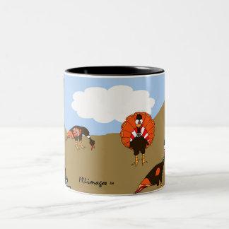 Turkeys In Autumn Mug