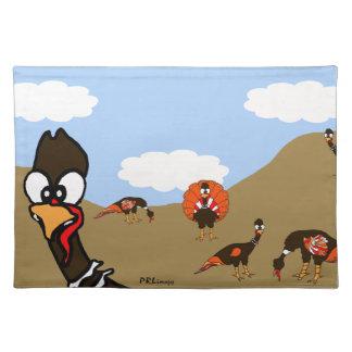 Turkeys in Autumn Placemat