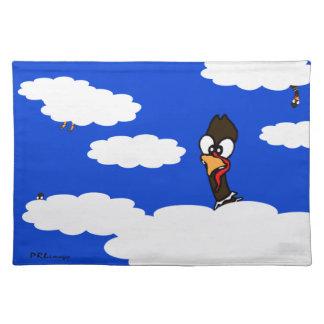 Turkeys In Flight Cloth Placemat