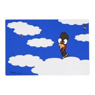 Turkeys In Flight Laminated Placemat