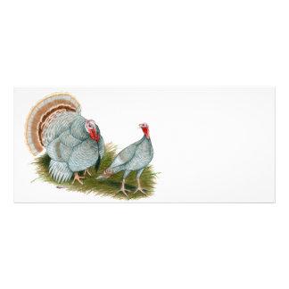 Turkeys:  Lilac Full Color Rack Card