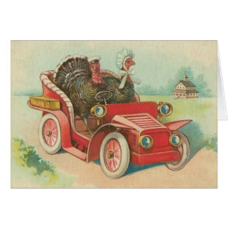 Turkeys out for A Drive Card