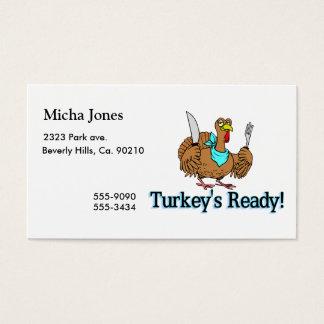 Turkeys Ready Thanksgiving Business Card