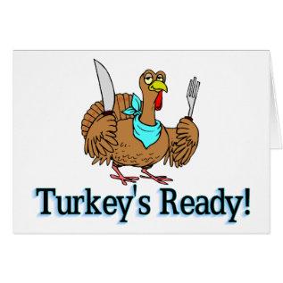 Turkeys Ready Thanksgiving Card at Zazzle