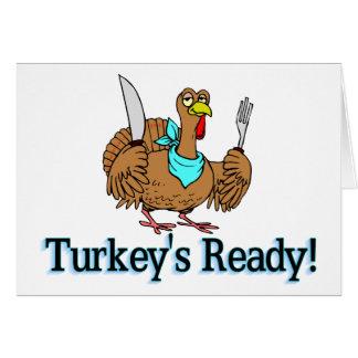 Turkeys Ready Thanksgiving Card