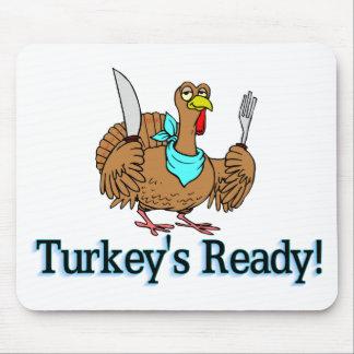 Turkeys Ready Thanksgiving Mouse Pad