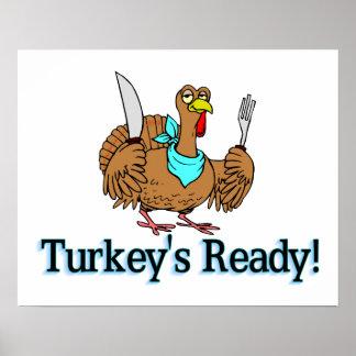 Turkeys Ready Thanksgiving Poster