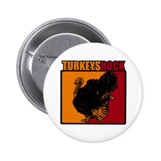 Turkeys Rock Pinback Button