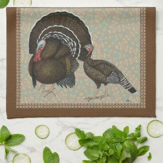 Turkeys Standard Bronze Portrait Kitchen Towel