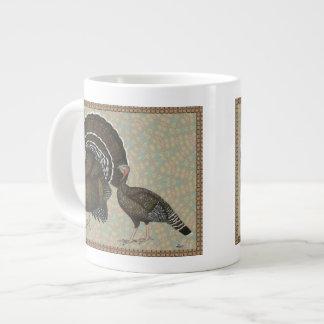 Turkeys Standard Bronze Portrait Large Coffee Mug