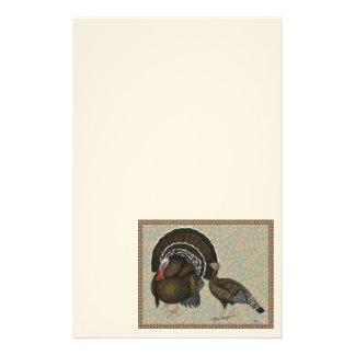 Turkeys Standard Bronze Portrait Stationery