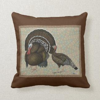 Turkeys Standard Bronze Portrait Throw Pillow