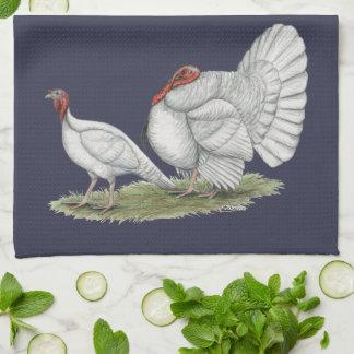 Turkeys White Holland Kitchen Towel