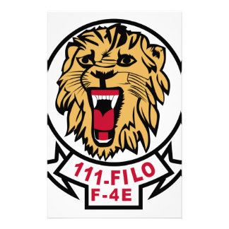 Turkish Air Force Patch 111 Filo F 4E Phantom Lion Stationery Paper