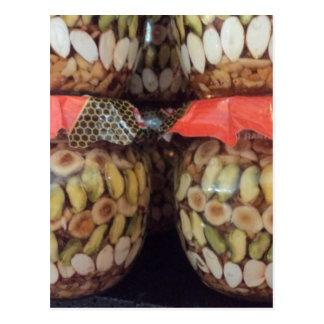 Turkish almond honey delight postcard
