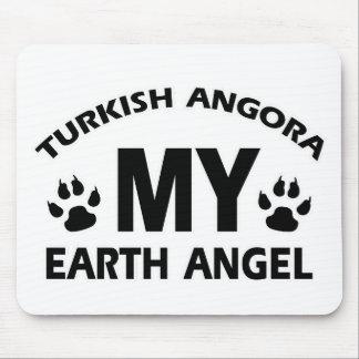 TURKISH ANGORA cat design Mouse Pad
