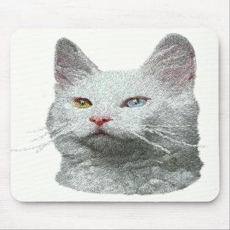 Turkish Angora Cat Mousepad