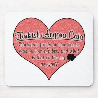 Turkish Angora Paw Prints Cat Humor Mouse Pad