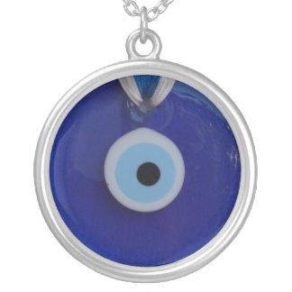 TURKISH  BLUE GLASS EVIL EYE AMULET  Necklace