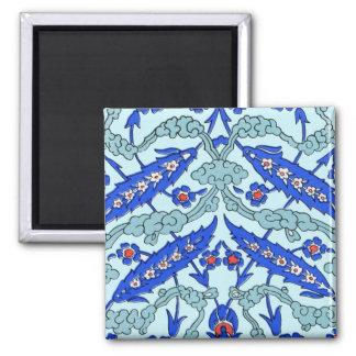 Turkish Border Turquoise Blue Tile Pattern Magnet