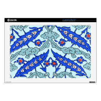 Turkish Border Turquoise Blue Tile Pattern Skin For Laptop