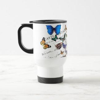 Turkish butterflies, postal old text travel mug