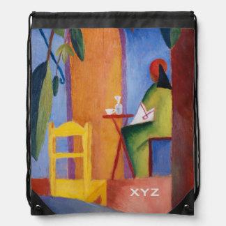 """Turkish Café"" Art custom monogram backpack"