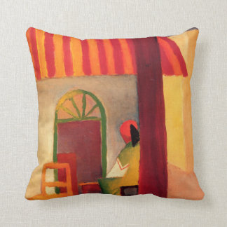 Turkish Cafe by August Macke (1914) Throw Pillows