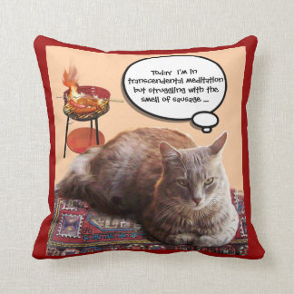 TURKISH CAT IN  TRANSCENDENTAL MEDITATION PILLOW