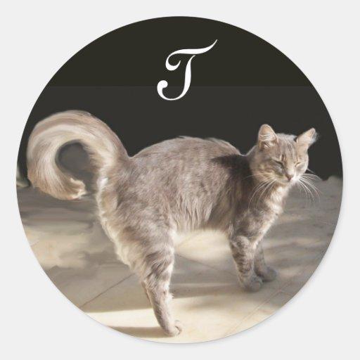 TURKISH CAT Monogram Stickers