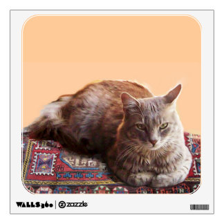 TURKISH CAT ON THE OLD CARPET WALL STICKER