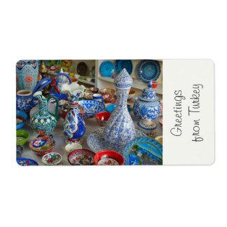 Turkish Ceramics Shipping Label