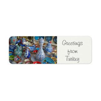 Turkish Ceramics Return Address Labels