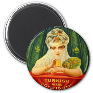 Turkish Cigarettes Tobacco Retro Vintage Kitsch Magnet