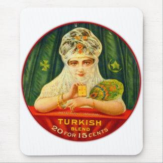 Turkish Cigarettes Tobacco Retro Vintage Kitsch Mouse Pad