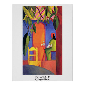 Turkish Coffee (Ii) By August Macke Poster