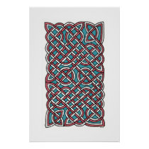 Turkish Delight Knot (vertical) Poster