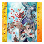 TURKISH FAIRY TALE ,bright red blue yellow sparkle Personalized Invite