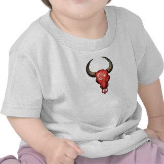 Turkish Flag Bull Skull T-shirt