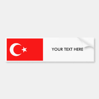 Turkish FLAG Bumper Sticker