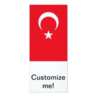 Turkish Flag 4x9.25 Paper Invitation Card