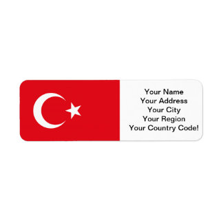 Turkish Flag Return Address Label